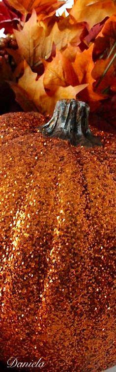 pumpkincottage.quenalbertini2: Glitter Pumpkin | Daniela