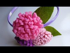 Felt Craft Tutorial | Flower Craft for Headbands | HandiWorks #44 - YouTube