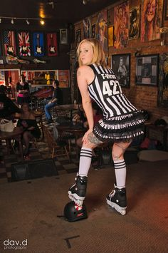 Rockin' Roller Derby Ref. I so wanna be her when I grow up!