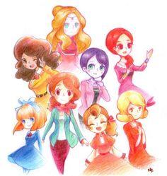 The girls of the Professor Layton series!