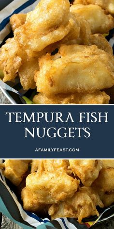 Crispy on the outside, tender and flaky on the inside - you'll love our Tempura Fish Nuggets! Crispy on the outside, tender and flaky on the inside - you'll love our Tempura Fish Nuggets! Best Fish Recipes, Tilapia Fish Recipes, Fried Fish Recipes, Salmon Recipes, Fish Dishes, Seafood Dishes, Seafood Recipes, Cooking Recipes, Gin Recipes