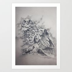 Bubo bubo Art Print by Tom Karlsen - $22.48