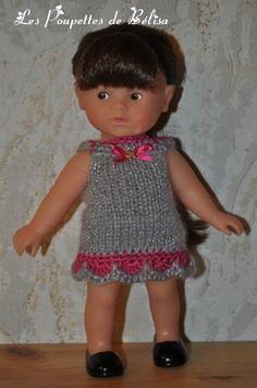 tuto robe grise tricot Mini Corolline