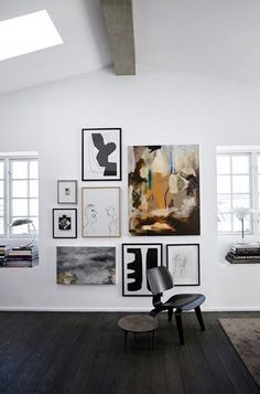 Black floors - via cocolapinedesign.com