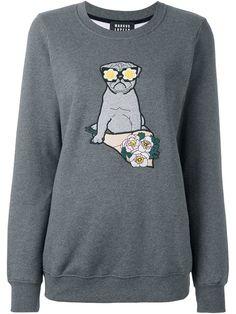 MARKUS LUPFER 'Anna' pug sweatshirt. #markuslupfer #cloth #sweatshirt