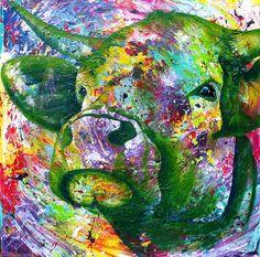 'LIghtscape-Cow' Dutch Artist Anita Ammerlaan. www.anitaammerlaan.com Koe koeien schilder schilderij schilderijen kuh cow cows verf paint koeienkop koeienportret uniek koeschilder koeienschilder koeienschilderij koeienschilderijen kleur kleurrijk vrolijk happy blij color colors colorful cowpainting cowpaintings Anita ammerlaan roosendaal art artist kunst kunstenaar kunstenaars