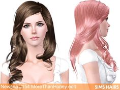 Newsea's J154 AF More Than Honey hairstyle retextured by Sims Hairs for Sims 3 - Sims Hairs - http://simshairs.com/downloads-sims3-sims4/newseas-j154-af-more-than-honey-hairstyle-retextured-by-sims-hairs/