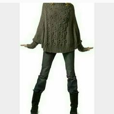 Max Studio poncho - get the look Neutral color,  soft to the touch.  This is a great piece for spring or fall.  It does have a few tiny stains (see pix).  Priced accordingly. Max Studio Jackets & Coats Capes