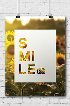 """PHOTOGRAPHY FUN POSTER """"SMILE"""" - All posters are 11""""x14"""" - Easy to mount, frame or display as is - Printed on high-grade poster paper ?ÿ"""
