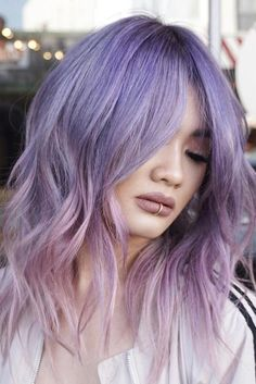 Light purple hair is exactly what you need in case you wish to look brighter this season.