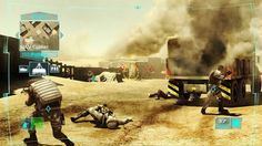 "This picture is from Tom Clancy's Ghost Recon.  This puts the player in a battle environment with high tech equipment.  This shows the player to guide a unit of men tactically, while fighting with ones own character.  This can be seen as a tool of recruitment, showing the player how to tactically accomplishes different missions and in different ways, like that in ""BioShock"".  You also value your men in the unit, which one must deploy wittingly and safely in order to help you in you missions."