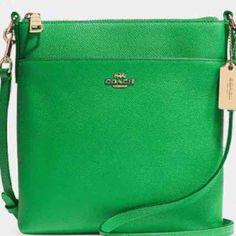 COACH Swingpack Gold / Green Crossbody - Mercari: Anyone can buy & sell