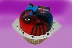 SPIDERMAN er også en som ikke gir seg med det første. Her er en kakevariant av ham.  Kan lages både som sjokoladekake og marsipanbløtkake. Ta kontakt for mer info på post@bellakaker.no eller ta en titt på websiden min www.bellakaker.no
