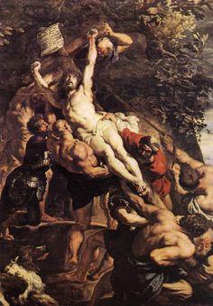 Rubens. L'élévation de la Croix (1610)