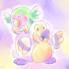 Amazing and super cute drawing by Lindsey K of her Open Squish winning designs, the Squishable Love Bird and the Squishable Dodo! #squishable #plush #fanart