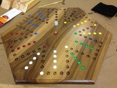 Marble Game With Wooden Board Inlaid Wooden Maple And Walnut Aggravation Board  Pinterest
