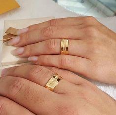 Wedding Ring Styles, Gold Wedding Rings, Gold Engagement Rings, Diamond Wedding Bands, Wedding Jewelry, Couple Ring Design, Diamond Jewelry, Jewelry Rings, Jewellery
