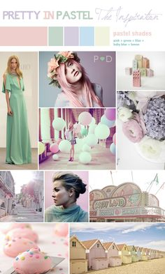As Spring 2012 marks the return of a fashion favourite, chalky pastels I have featured a soft delicate bridal inspiration palette of pastels on Pocketful of Dreams Wedding Blog