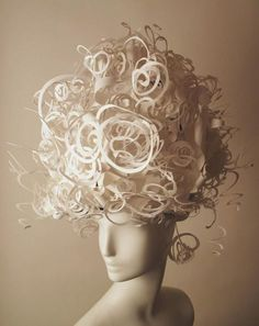 Paper wigs by Nikki Salk and Amy Flurry seen on art happy: fashion