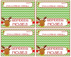 Reindeer Noses bag toppers These fun little toppers will be adorable on the top of a bag filled with yummy treats like whoppers, sour cherries