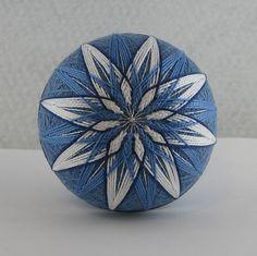 Temari Balls Designs | Temari: Winter Skies | From My Wandering Mind