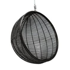 And now this topper also in black! Wow is that ff tough these rattan hanging chair of HKLiving! A semicircle with a nice place to hang out, napping, relaxing, d Hammock Swing, Hammock Chair, Swinging Chair, Dream Furniture, Furniture Decor, Rattan, Bedroom Chair, Room Inspiration, Armchair
