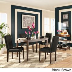 Shermer Bonded Leather Brown Mission 5-piece Dining Set $364.49