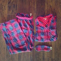 Victoria's Secret plaid pajama set! This pajama set is perfect for those cold night! It comes with matching bottoms, a button down shirt, and a eye mask. Never worn! It has been sitting in my closet! All reasonable offers will be considered! Victoria's Secret Intimates & Sleepwear Pajamas