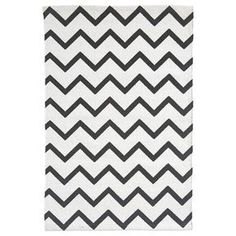 Vloerkleed Bombay zigzag zwart/wit 60x90 cm