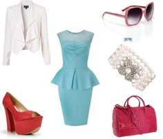 """Peplum Barbie Goes to Work!"" by laydeelove on Polyvore"