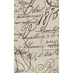 Sylvia Cook Quot French Script Quot Handwriting Woven Area Rug