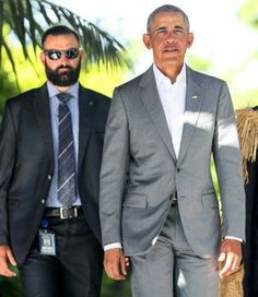 President Barack Obama And Secret Service Agent