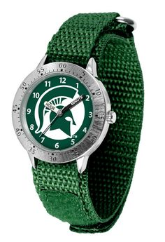 The metal alloy case is light weight with a stainless steel back and a sporty adjustable Velcro strap for the perfect, comfort youth fit. The officially licensed large team logo creates an eye popping