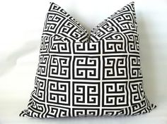 A crisp, clean, and modern look for your home... Black and White Euro Pillow Cover  20 x 20 One by PillowStyles, $19.00