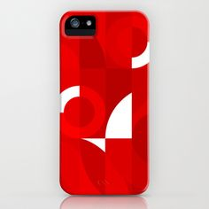 Red Stamp iPhone Case by koivo - $35.00