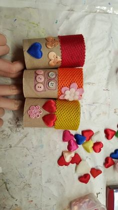 Toilet paper roll crafts with scrap materials