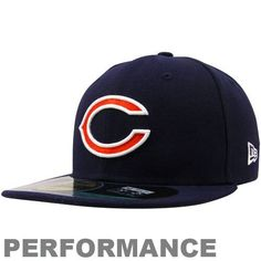 timeless design 45bcb f0784 New Era Chicago Bears Youth On-Field Performance 59FIFTY Fitted Hat - Navy  Blue by
