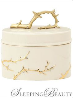 The 2009 Lenox Disney Wedding collection includes a ring box inspired by Sleeping Beauty. Photo © Lenox.