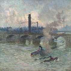 Emile Claus - Steamboats on the Thames [1916] | Flickr - Photo Sharing!