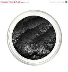 SALE DARK NIGHT  Black Eyeshadow Mineral Makeup  by NoellaBeauty, $4.87