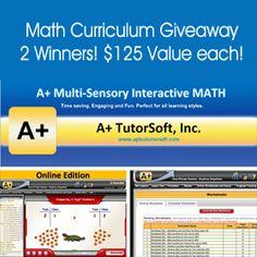 Enter to win A+ TutorSoft Math - 2 winner #giveaway #homeschool #math