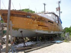 1960 55' Chris-Craft Constellation motor yacht for sale. Stripped and partially restored, but with significant work left to be done. www.yachtworld.com#.U6g6Z2go5dg