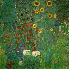 Gustav Klimt >> Farm Garden with Sunflowers, c.1912