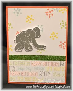 Balloon Animals - Feb 2016 Stamp of the month at Close To My heart! :) #ctmh #cardmaking #closetomyheart