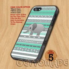 Elephant Aztec - Print On Hard Case iPhone 5 Case | GetToMade - Accessories on ArtFire