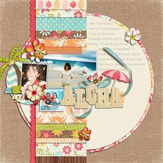 Layout by Trina. Supplies: Paper-Lovin' Vol. 1 Templates by Nettio Designs; Aloha Sunshine by Kristin Cronin-Barrow and Zoe Pearn