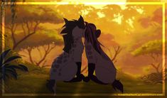 Jasiri and Janja, 'The Lion Guard' Unexpected The Lion King 1994, Lion King Fan Art, The Lion King Characters, Anime Animals, Cute Animals, Princes Of The Universe, Disney Family, Disney Couples, Le Roi Lion