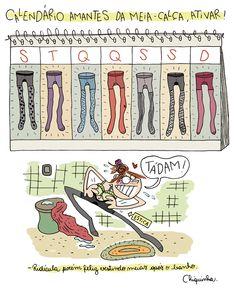 Calendário de meias-calças!