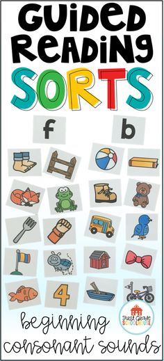 Give your students opportunities to practice letter sound relationships and auditorily discriminate between initial letter sounds with this packet of beginning consonant sound sorts. Use the phonics activities during the word study part of your guided reading lesson with pre-emergent and emergent readers.