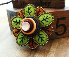 Zipper flower brooch | Flickr - Photo Sharing!